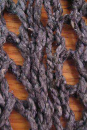 Morse code vest - stitch closeup